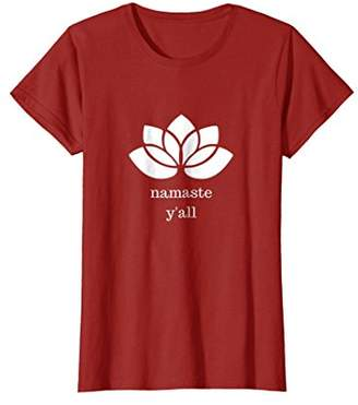 Namaste Funny Y'all Yoga Lotus Southern T-shirt