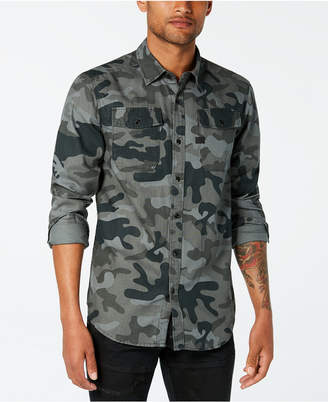 G Star Men's Landoh Camouflage-Print Shirt, Created for Macy's