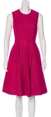 Lela Rose Sleeveless Knit Midi Dress