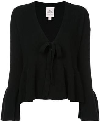 Cinq à Sept V-neck flared sleeve sweater