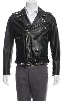 Valentino Rockstud Leather Moto Jacket w/ Tags