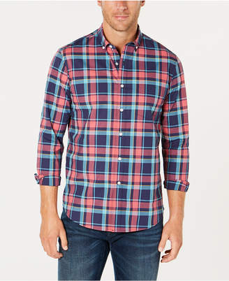 Club Room Men's Plaid Performance Shirt, Created for Macy's