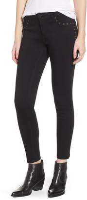 1822 Denim Grommet Detail Skinny Jeans