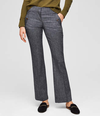 LOFT Petite Trousers in Button Pocket in Julie Fit