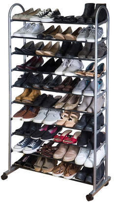 Simplify 10 Tier Mobile Shoe Rack