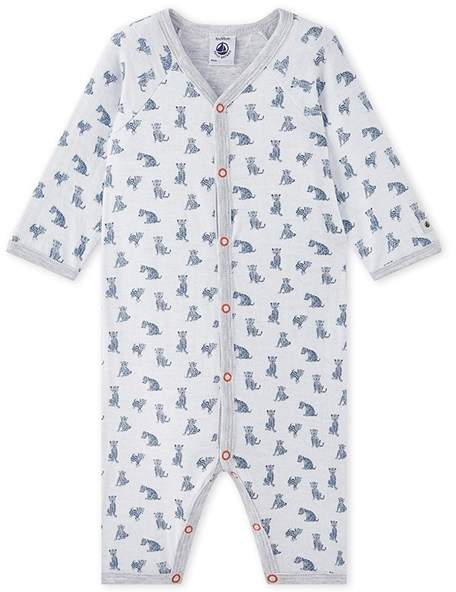 Baby Boys Footless 1-Piece Pajama In A Double Knit