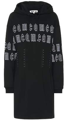 McQ Embroidered cotton hoodie dress