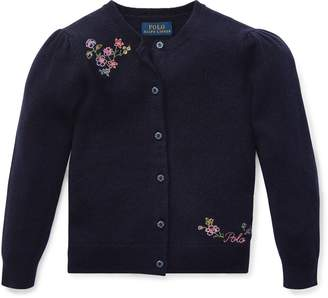 Ralph Lauren Floral-Embroidered Cardigan