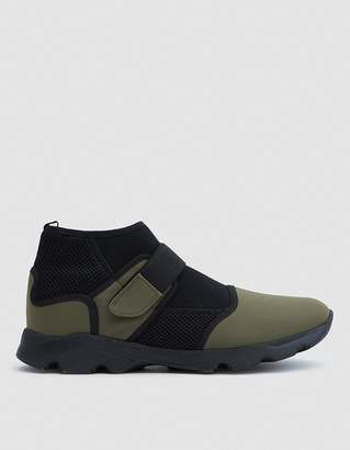 Marni Neoprene Sneaker Shoe in Military/Black