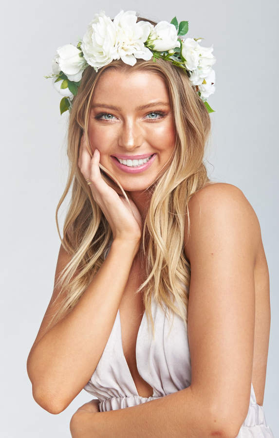 Show Me Your Mumu Wisteria Flower Crown ~ White