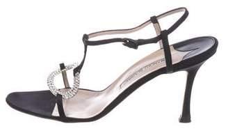 Manolo Blahnik Jewel T-Strap Sandals