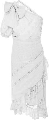 Ulla Johnson Gwyneth One Shoulder Eyelet Dress
