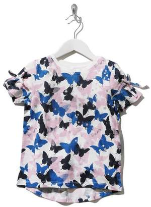 M&Co Butterfly metallic star print t-shirt