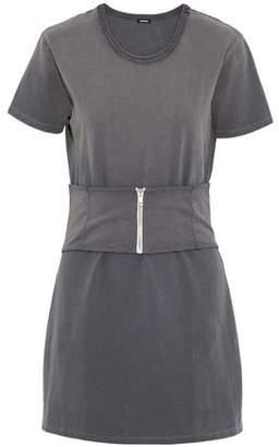 Monrow Belted Cotton-Jersey Mini Dress