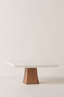 Square Top Marble Cake Stand