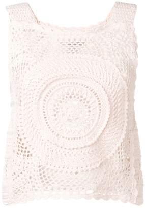 Alberta Ferretti crochet vest