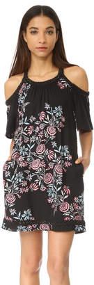 Ella Moss Wanderer Floral Cold Shoulder Dress $198 thestylecure.com