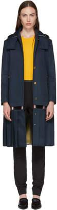 Thom Browne ネイビー Bal カラー トレンチ コート