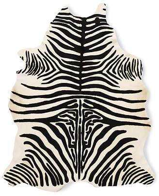 Design Within Reach Edelman Leather Zebra Cowhide Rug