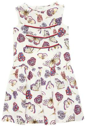 Gucci Butterfly Printed Cotton Poplin Dress