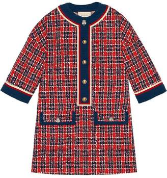 Gucci Tweed check tunic dress
