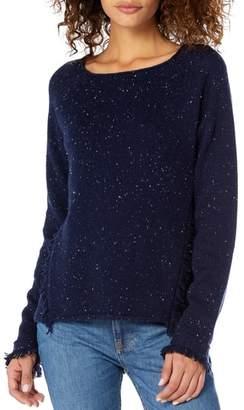Michael Stars Confetti Fringe Detail Bateau Neck Sweater