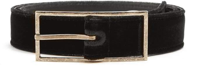 Saint Laurent Velvet skinny belt