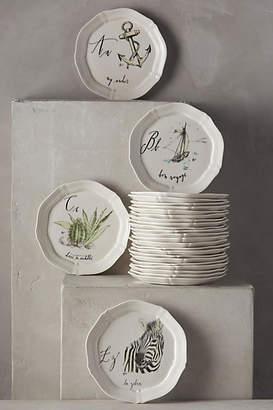 Linea Carta Calligrapher Monogram Canape Plate