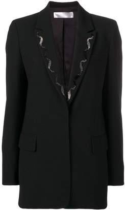 Victoria Beckham beaded embroidery blazer