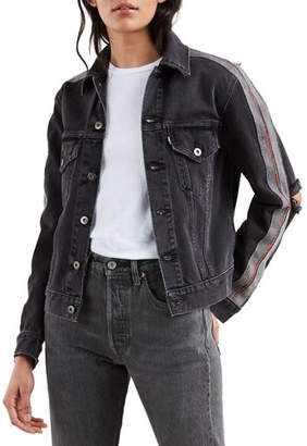Levi's Distressed Denim Boyfriend Trucker Jacket