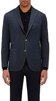 Boglioli Men's Travel Herringbone-Weave Cotton Sportcoat - Navy