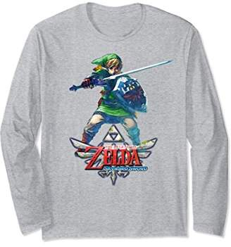 Nintendo Zelda Skyward Sword Link Fight Pose Long Sleeve Tee
