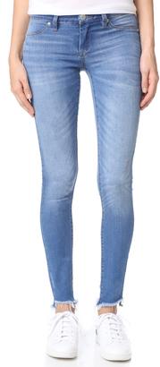 Blank Denim Raw Hem Skinny Jeans $88 thestylecure.com