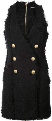 Balmain double-breasted tweed dress