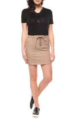 Dex Front Lace Up Mini Skirt