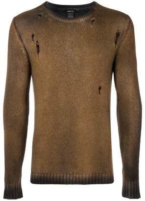 Avant Toi metallic crew neck sweater