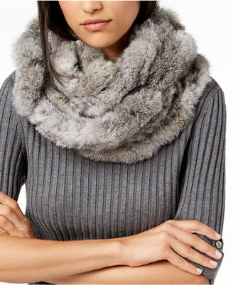 Marcus Collection Adler Rabbit-Fur Ruffled Infinity Scarf
