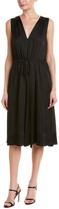 BCBGMAXAZRIA Drawstring A-Line Dress