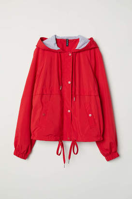 H&M Hooded Jacket - Bright red - Women