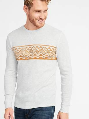 Old Navy Built-In Flex Thermal-Knit Tee for Men
