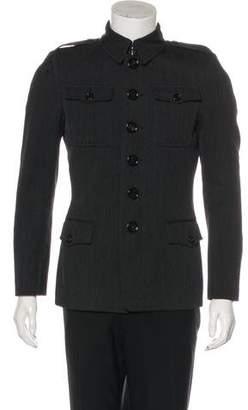 Burberry Wool Blend Button-Up Jacket