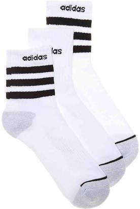 adidas Stripe Crew Socks - 3 Pack - Men's