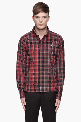 Undercover Red Plaid Middle Finger Jacket