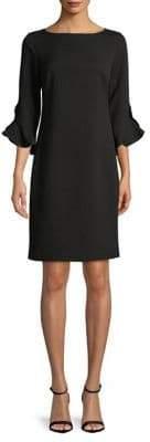 Karl Lagerfeld Paris Ruffle Bell-Sleeve Sheath Dress
