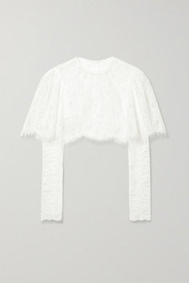 Rasario Cropped Lace Top - Ivory