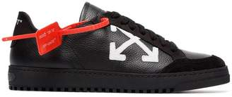 Off-White Carryover low-top leather and suede sneakers