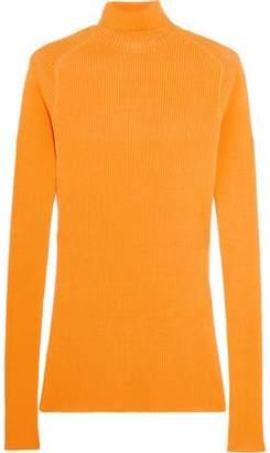 Victoria Beckham Ribbed Silk And Cotton-Blend Turtleneck Sweater