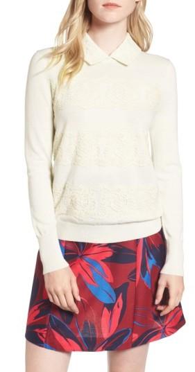 Women's Draper James Lace Collar Augusta Sweater