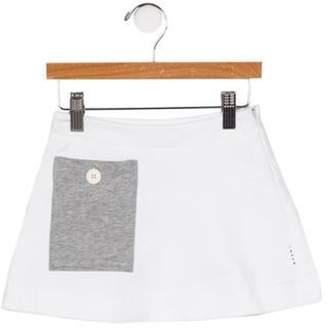 Marni Junior Girls' Big Pocket A-Line Skirt w/ Tags white Junior Girls' Big Pocket A-Line Skirt w/ Tags