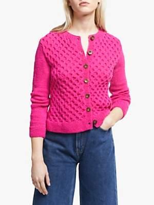 People Tree Honeycomb Cardigan, Pink